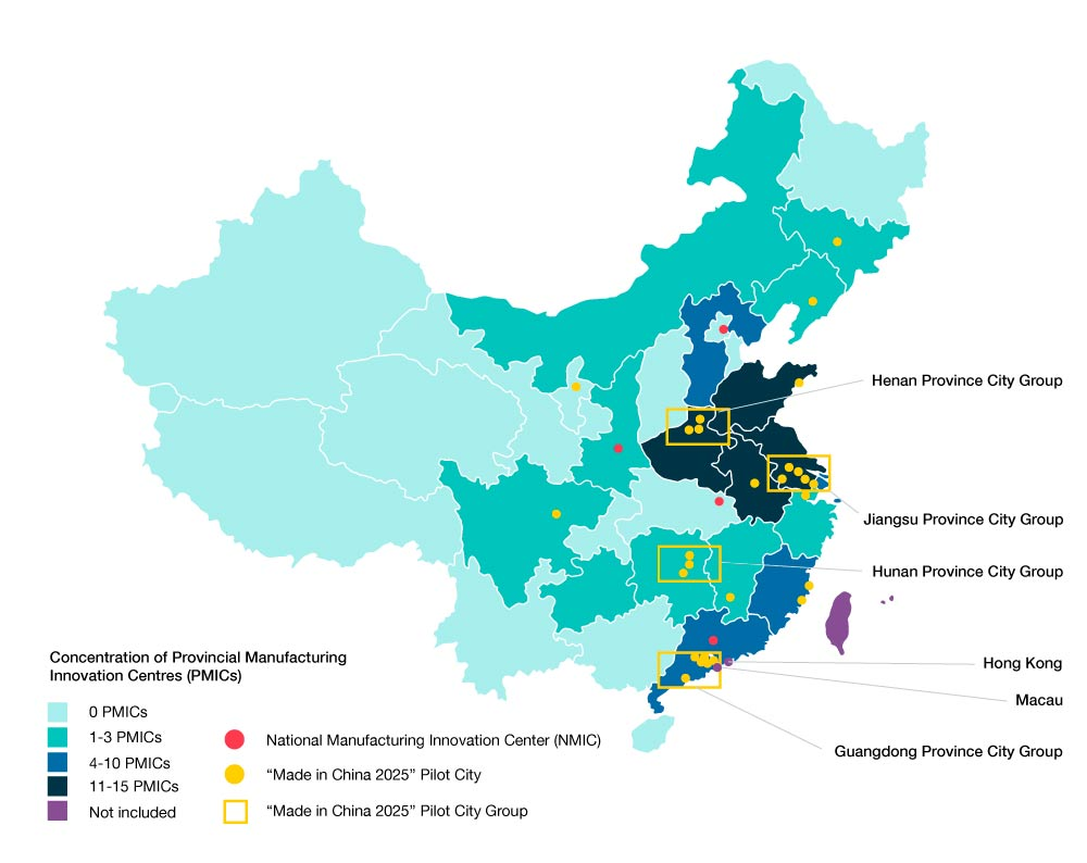 Concentration of Made in China 2025 government supportt
