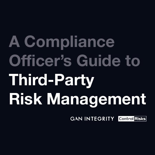 Compliance officer's guide to third-party risk management
