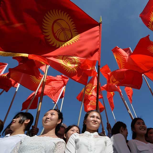 Kyrgyzstani women