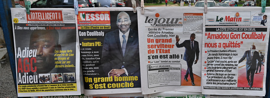 Death of Cote d'Ivoire Prime Minister Coulibaly upsets presidential race