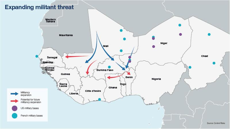 Expanding militant threats