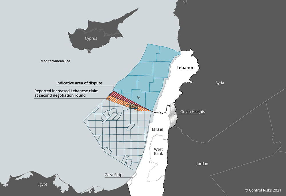 Israel, Lebanon compete for maritime energy resources