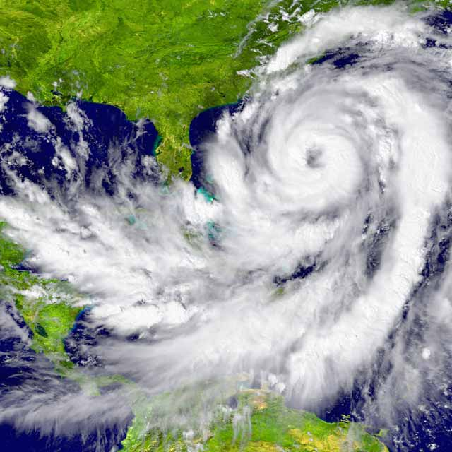 Natural disaster hurricane