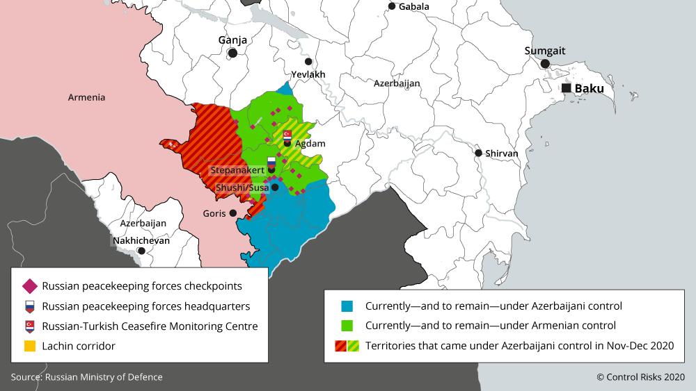 Azerbaijan area control map