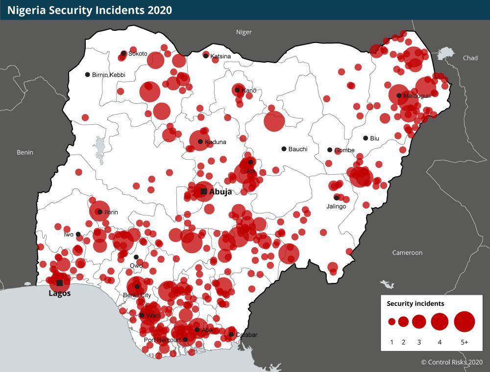 Nigeria Security Map