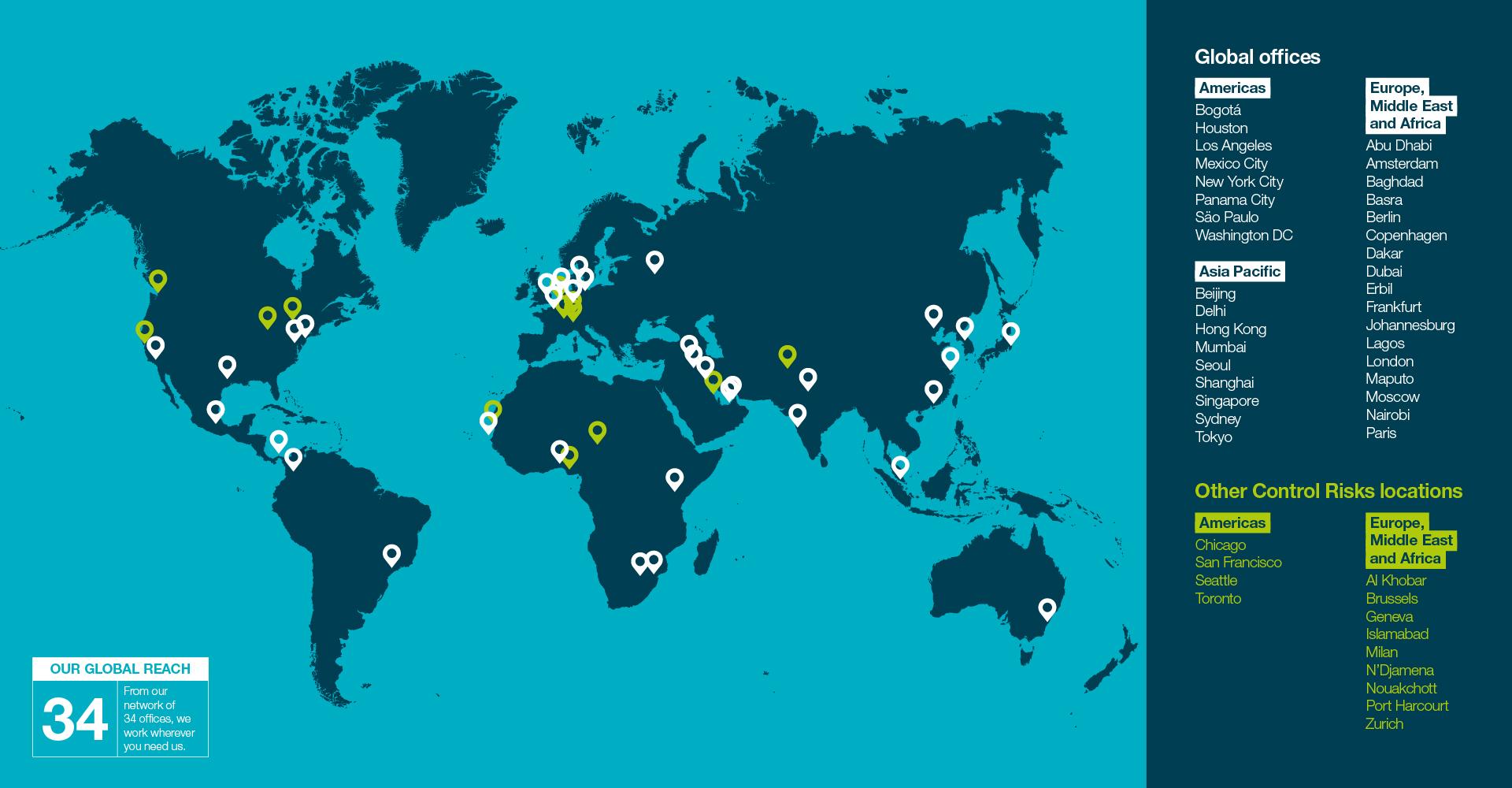 Nuestras oficinas alrededor del mundo